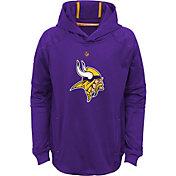 NFL Team Apparel Youth Minnesota Vikings Mach Pullover Hoodie