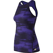 New Balance Women's Evolve Open Back Printed Tank Top