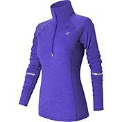 New Balance Women's Performance Merino Running Half Zip Long Sleeve Shirt