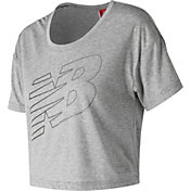 New Balance Women's Athletics Cropped T-Shirt