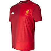 New Balance Youth Liverpool Elite Training Red Pre-match Top
