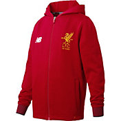 New Balance Youth Liverpool Elite Travel Red Training Hoodie