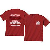 New World Graphics Men's Alabama Crimson Tide Crimson 'The Truth About Bama' T-Shirt