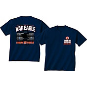 New World Graphics Men's Auburn Tigers Blue 2017 Football Schedule T-Shirt