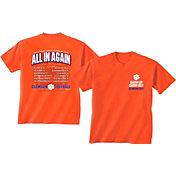 New World Graphics Men's Clemson Tigers Orange 2017 Football Schedule T-Shirt