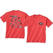 New World Graphics Men's Georgia Bulldogs Red Food Chain T-Shirt