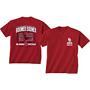 New World Graphics Men's Oklahoma Sooners Crimson 2017 Football Schedule T-Shirt