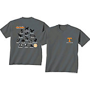 New World Graphics Men's Tennessee Volunteers Grey Food Chain T-Shirt