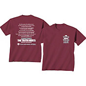 New World Graphics Men's Texas A&M Aggies Maroon 'The Truth About Texas A&M' T-Shirt