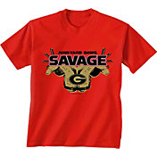New World Graphics Youth Georgia Bulldogs Red 'Savage' Football T-Shirt