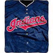 Northwest Cleveland Indians Jersey Raschel Blanket