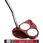 Odyssey O-Works Red 2-Ball Putter - Super Stroke Slim 2.0 Counter Core Grip