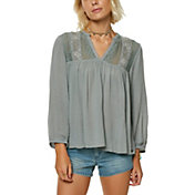 O'Neill Women's Mara Woven Long Sleeve Shirt