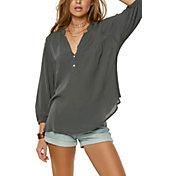 O'Neill Women's Shana Woven ¾ Sleeve Shirt