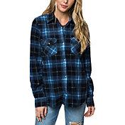 O'Neill Women's Zuma Superfleece Flannel Long Sleeve Shirt