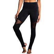 Onzie Women's Black High Rise Stirrup Leggings