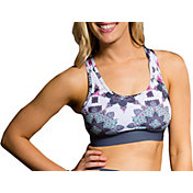 Onzie Women's Elastic Band White Boho Love Sports Bra