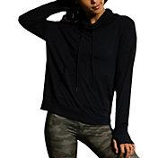 Onzie Women's Black Tulip Back Cowl Neck Sweatshirt
