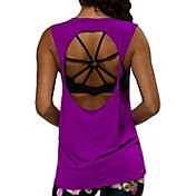 Onzie Women's Electric Purple Twist Back T-Shirt