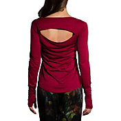 Onzie Women's Burgandy Wave Long Sleeve Shirt