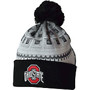 OSU Men's Ohio State Buckeyes Black Shoe-In Cuffed Knit Football Beanie