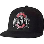 OSU Men's Ohio State Buckeyes Black Extra Mile Football Adjustable Hat