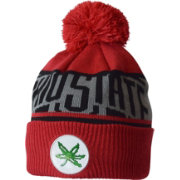 OSU Men's Ohio State Buckeyes Scarlet Divide & Conquer Cuffed Knit Beanie