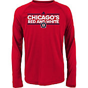 adidas Youth Chicago Fire Dassler City Long Sleeve Navy Long Sleeve Shirt