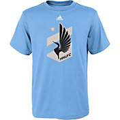 adidas Youth Minnesota United FC Primary Logo Light Blue T-Shirt
