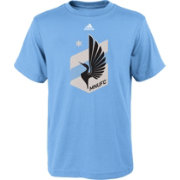 adidas Youth Minnesota United FC Primary Logo Light Blue T-Shirt