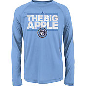 adidas Youth New York City FC Dassler City Long Sleeve Blue Long Sleeve Shirt