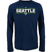 adidas Youth Seattle Sounders Dassler City Long Sleeve Black Long Sleeve Shirt
