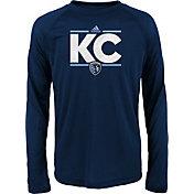 adidas Youth Sporting Kansas City Dassler City Long Sleeve Navy Long Sleeve Shirt