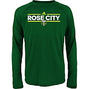 adidas Youth Portland Timbers Dassler City Long Sleeve Green Long Sleeve Shirt