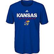 adidas Youth Kansas Jayhawks Blue Sideline T-Shirt