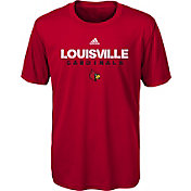 adidas Youth Louisville Cardinals Cardinal Red Sideline T-Shirt