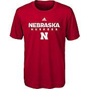 adidas Youth Nebraska Cornhuskers Scarlet Sideline T-Shirt