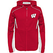 Gen2 Youth Wisconsin Badgers Red Hi-Tech Full-Zip Hoodie