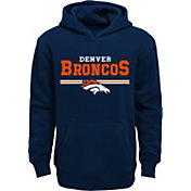 NFL Team Apparel Youth Denver Broncos MVP Navy Pullover Hoodie