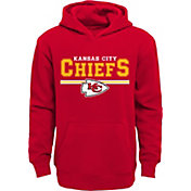 NFL Team Apparel Youth Kansas City Chiefs MVP Red Pullover Hoodie
