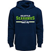 NFL Team Apparel Youth Seattle Seahawks MVP Navy Pullover Hoodie