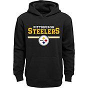 NFL Team Apparel Youth Pittsburgh Steelers MVP Black Pullover Hoodie