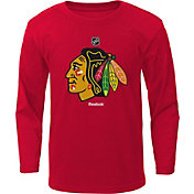 Reebok Youth Chicago Blackhawks Red Long Sleeve Logo T-Shirt