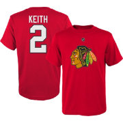 NHL Youth Chicago Blackhawks Duncan Keith #2 Red T-Shirt