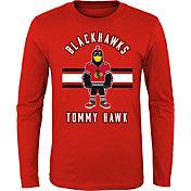 NHL Youth Chicago Blackhawks Mascot Red Long Sleeve Shirt
