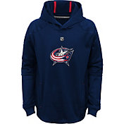 NHL Youth Columbus Blue Jackets Mach Navy Pullover Hoodie