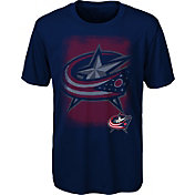 NHL Youth Columbus Blue Jackets Logo Matrix Navy T-Shirt