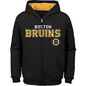 NHL Youth Boston Bruins Stated Black Full-Zip Hoodie
