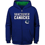NHL Youth Vancouver Canucks Stated Blue Full-Zip Hoodie