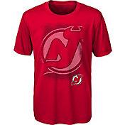 NHL Youth New Jersey Devils Logo Matrix Red T-Shirt